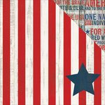 Simple Stories - Stars and Stripes Collection - 12 x 12 Double Sided Paper - Independence Day