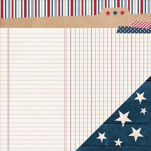 Simple Stories - Stars and Stripes Collection - 12 x 12 Double Sided Paper - Freedom