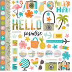 Simple Stories - You Are Here Collection - 12 x 12 Cardstock Stickers - Fundamentals