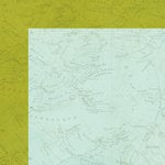 Simple Stories - You Are Here Collection - 12 x 12 Double Sided Paper - Green Map