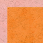 Simple Stories - You Are Here Collection - 12 x 12 Double Sided Paper - Orange Map