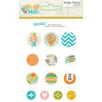 Simple Stories - You Are Here Collection - Decorative Brads