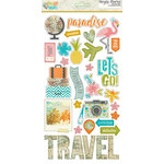 Simple Stories - You Are Here Collection - Chipboard Stickers