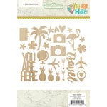 Simple Stories - You Are Here Collection - Wood Veneer Pieces