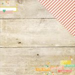 Simple Stories - Summer Vibes Collection - 12 x 12 Double Sided Paper - Just Beachy