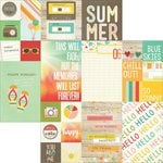 Simple Stories - Summer Vibes Collection - 12 x 12 Double Sided Paper - 2 x 2 and 4 x 6 Elements
