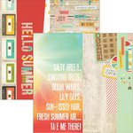 Simple Stories - Summer Vibes Collection - 12 x 12 Double Sided Paper - 2 x 12, 4 x 12 and 6 x 12 Elements