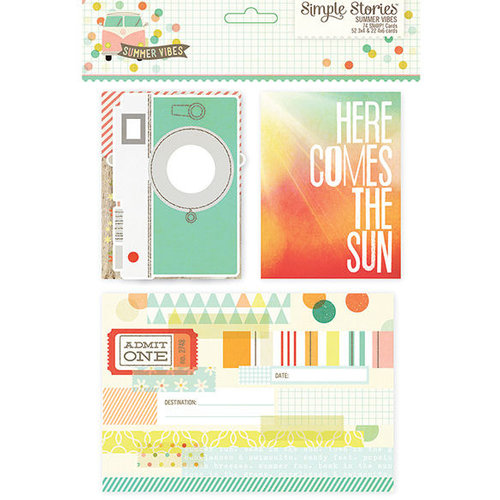 Simple Stories - SNAP Collection - 3 x 4 and 4 x 6 Cards - Summer Vibes