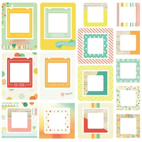 Simple Stories - Summer Vibes Collection - Chipboard Frames
