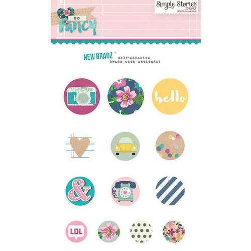 Simple Stories - So Fancy Collection - Decorative Brads