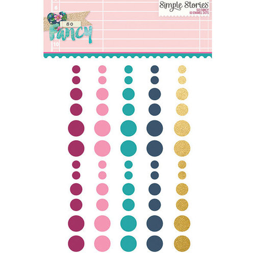 Simple Stories - So Fancy Collection - Enamel Dots