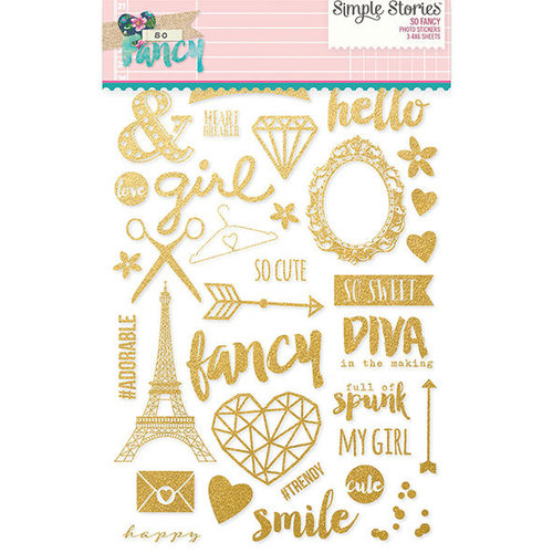 Simple Stories - So Fancy Collection - Clear Photo Stickers