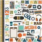 Simple Stories - So Rad Collection - 12 x 12 Cardstock Stickers - Fundamentals