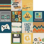 Simple Stories - So Rad Collection - 12 x 12 Double Sided Paper - 4 x 4 Elements