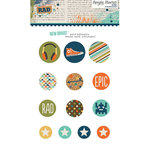Simple Stories - So Rad Collection - Decorative Brads