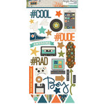 Simple Stories - So Rad Collection - Chipboard Stickers