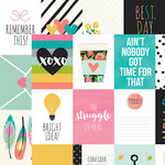 Simple Stories - Carpe Diem Collection - 12 x 12 Double Sided Paper - 3 x 4 Journaling Card Elements