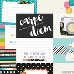Simple Stories - Carpe Diem Collection - 12 x 12 Double Sided Paper - 4 x 6 Horizontal Journaling Elements