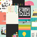 Simple Stories - Carpe Diem Collection - 12 x 12 Double Sided Paper - 4 x 4 and 4 x 6 Vertical Journaling Elements