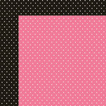 Simple Stories - Carpe Diem Collection - 12 x 12 Double Sided Paper - Pink Dot