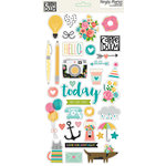Simple Stories - Carpe Diem Collection - Chipboard Stickers