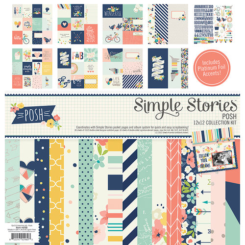 Simple Stories - Posh Collection - 12 x 12 Collection Kit