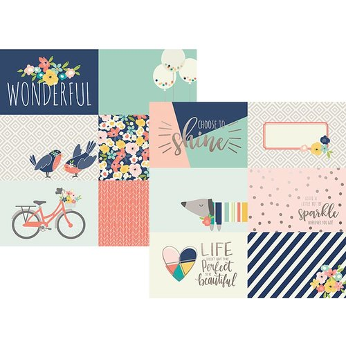 Simple Stories - Posh Collection - 12 x 12 Double Sided Paper with Foil Accents - 4 x 6 Horizontal Journaling Elements