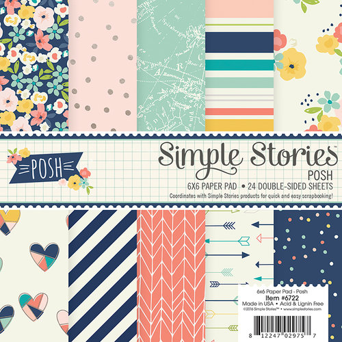 Simple Stories - Posh Collection - 6 x 6 Paper Pad