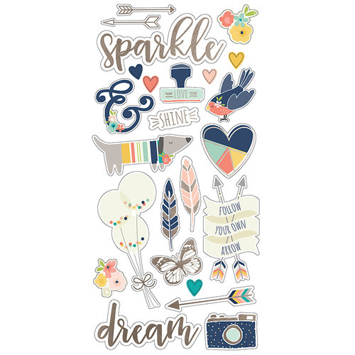 Simple Stories - Posh Collection - Chipboard Stickers