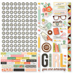 Simple Stories - The Reset Girl Collection - 12 x 12 Cardstock Stickers - Combo