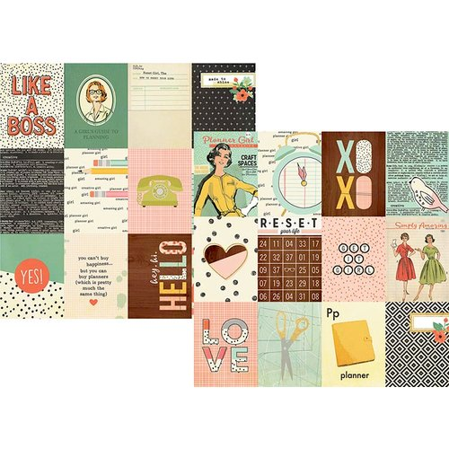 Simple Stories - The Reset Girl Collection - 12 x 12 Double Sided Paper with Foil Accents - 3 x 4 Journaling Card Elements