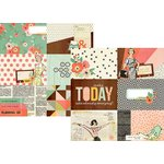 Simple Stories - The Reset Girl Collection - 12 x 12 Double Sided Paper with Foil Accents - 4 x 6 Horizontal Journaling Elements