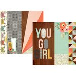 Simple Stories - The Reset Girl Collection - 12 x 12 Double Sided Paper with Foil Accents - 2 x 12, 4 x 12 and 6 x 12 Elements