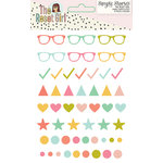 Simple Stories - The Reset Girl Collection - Enamel Shapes and Dots