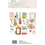 Simple Stories - The Reset Girl Collection - Big Pieces - Die Cut Cardstock Pieces