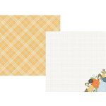 Simple Stories - Hello Fall Collection - 12 x 12 Double Sided Paper - Autumn Delight