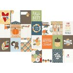 Simple Stories - Hello Fall Collection - 12 x 12 Double Sided Paper - 3 x 4 Journaling Card Elements