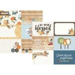 Simple Stories - Hello Fall Collection - 12 x 12 Double Sided Paper - 4 x 6 Horizontal Journaling Elements