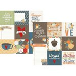 Simple Stories - Hello Fall Collection - 12 x 12 Double Sided Paper - 4 x 4 and 4 x 6 Vertical Journaling Elements