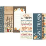 Simple Stories - Hello Fall Collection - 12 x 12 Double Sided Paper - 2 x 12, 4 x 12 and 6 x 12 Elements