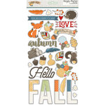 Simple Stories - Hello Fall Collection - Chipboard Stickers