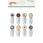 Simple Stories - Hello Fall Collection - Epoxy Metal Clips