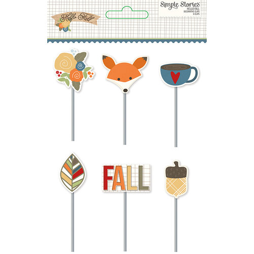 Simple Stories - Hello Fall Collection - Decorative Clips