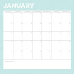 Simple Stories - Life Documented Collection - 12 x 12 Double Sided Paper - January Calendar