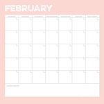 Simple Stories - Life Documented Collection - 12 x 12 Double Sided Paper - February Calendar