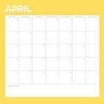 Simple Stories - Life Documented Collection - 12 x 12 Double Sided Paper - April Calendar