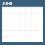 Simple Stories - Life Documented Collection - 12 x 12 Double Sided Paper - June Calendar