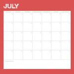 Simple Stories - Life Documented Collection - 12 x 12 Double Sided Paper - July Calendar