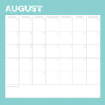 Simple Stories - Life Documented Collection - 12 x 12 Double Sided Paper - August Calendar