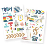 Simple Stories - Life Documented Collection - Chipboard Stickers